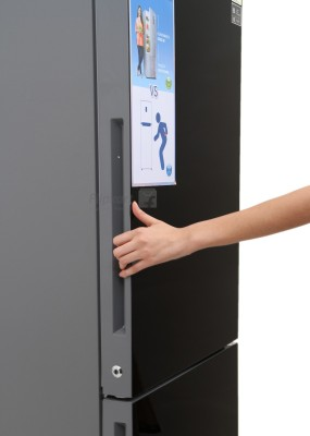 haier double door fridge. haier 345 l frost free double door refrigerator (hrb -3654pkg-r) fridge y