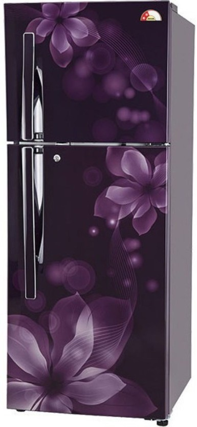 LG 260 L Frost Free Double Door Refrigerator (GL T292RPOY) Price in Single French Door With Frosted Gl on