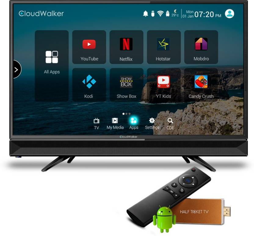 38b96472fd91 CloudWalker Cloud TV 23.6 Inch HD Ready LED TV (CLOUD TV 24AH) Price in  India, Specifications and Reviews | Buysmaart