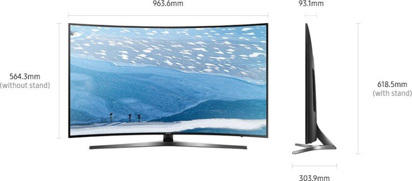 761deb32c413 Samsung 43 Inch Ultra HD (4K) Curved LED Smart TV (43KU6570) Price ...
